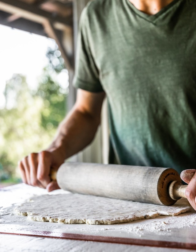allowing the dough to rest in the fridge helps it roll out smoothly