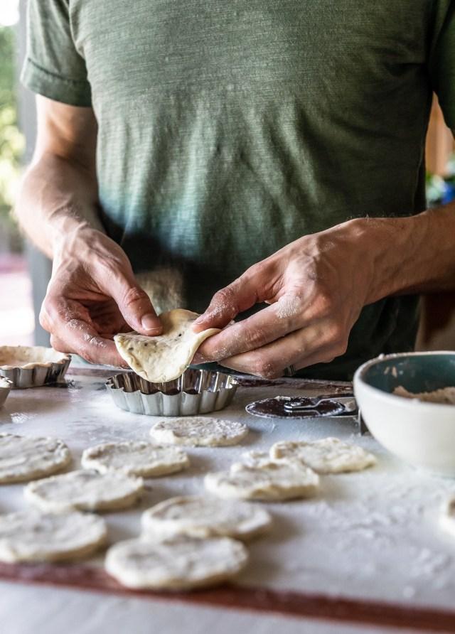 each little pan gets its own little crust
