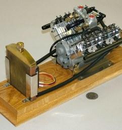 cirrus 4 cycle v8 engine 1 6 scale model built by profi [ 1024 x 774 Pixel ]