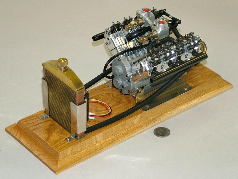 medium resolution of  cirrus 4 cycle v8 engine 1 6 scale model built by profi