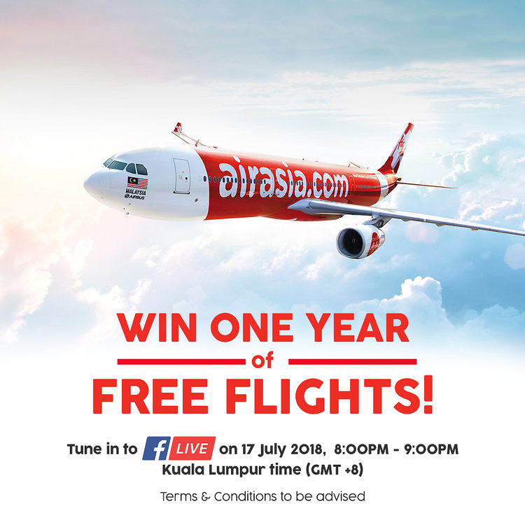 Win One Year Of Free AirAsia Flights!