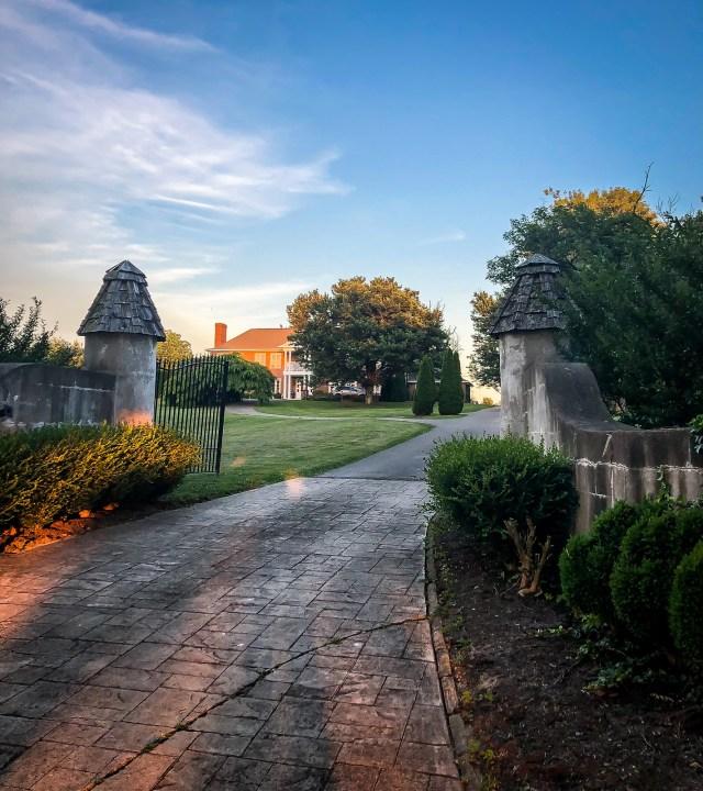 the grand entrance to Fairyhouse Hall