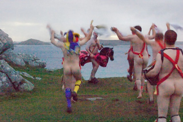 Naked Morris Dancing  Just before sunrise above Old