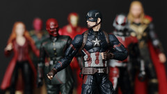 Captain America, Red Skull, Thor, Ant-Man, Scarlet Witch, Vision, Iron Man