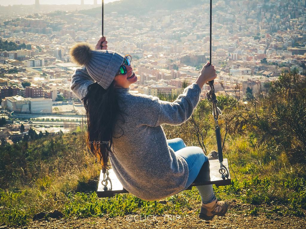 · Columpio de Collserola · Columpio con vistas a Barcelona ·