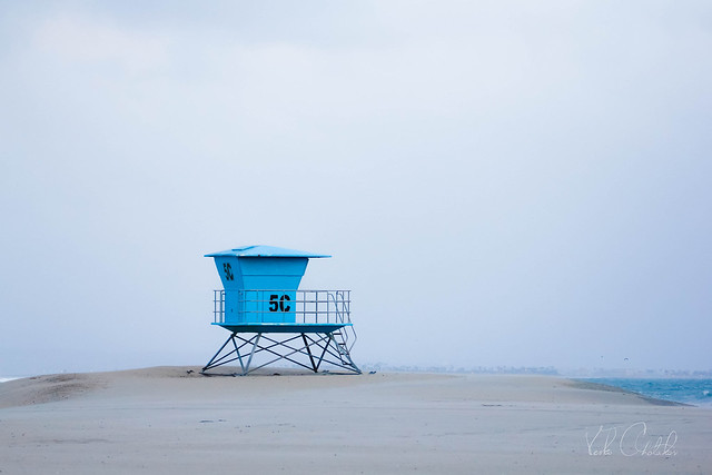 Lonely watchtower on Coronado Beach, San Diego, Southern California