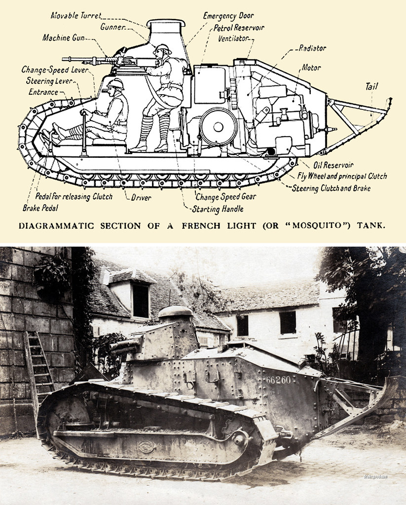 medium resolution of  diagram of internal layout of french renault ft 17 char mitrailleur mosquito tank