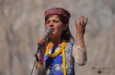 Sidra, Haider Badakhshoni's daughter, a young talented Wakhi singer from Chapursan Valley © Bernard Grua