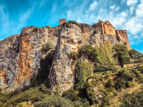 Alquézar · Vistas desde el desfiladero · Pasarelas de Alquézar · Ruta por el rio Vero · Huesca · Aragón ·