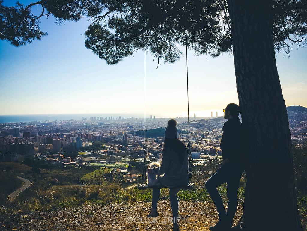 · Vistas a Barcelona desde el columpio de Collserola ·