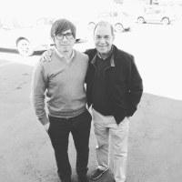 Heber Hernández junto a Raúl de Nordenflycht. Los Andes.