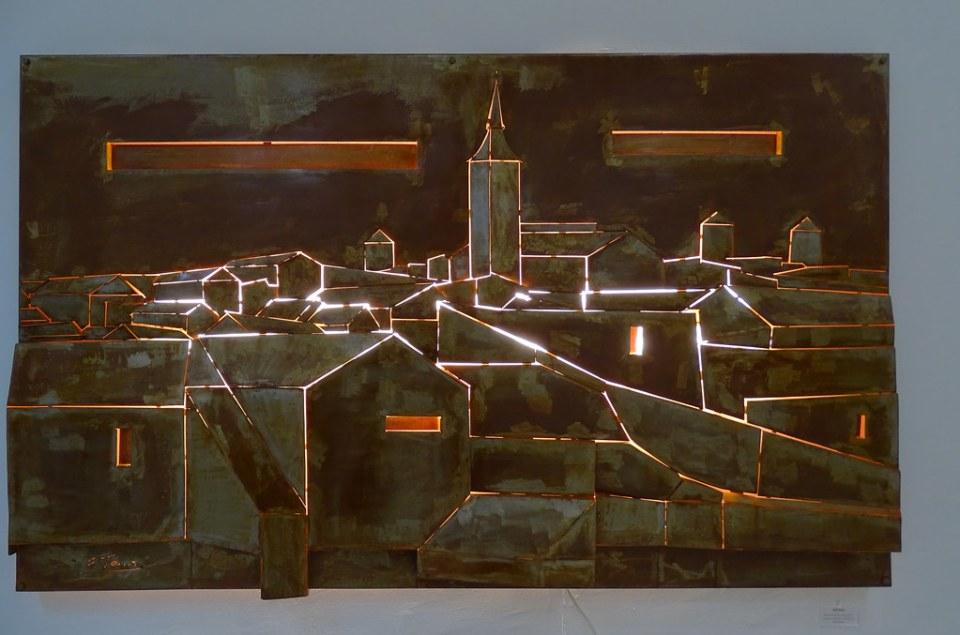 vista pueblo Campo Criptana Mural de Eloy Teno Sala Albero Museo Eloy Teno Campo de Criptana Ciudad Real