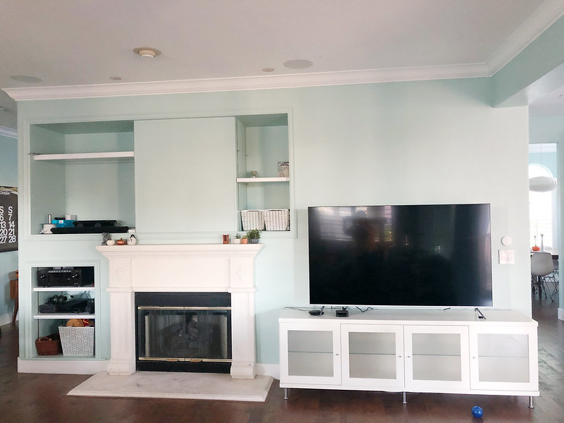Family room feature wall