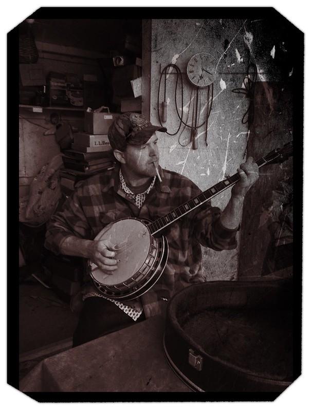 Banjo Player at Pickens Flea Market