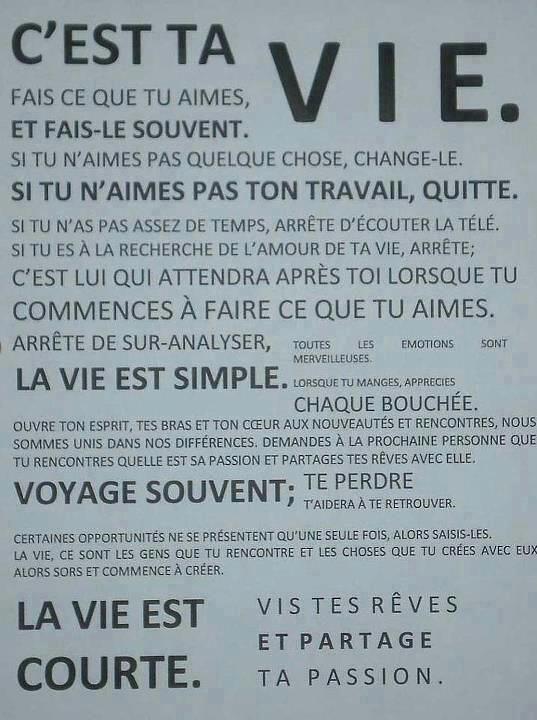 Citation On A Qu Une Vie : citation, Citations, Nouvelle, *lifestyle*..., Https://is.gd/fry5G…, Flickr