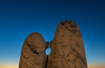 Kissing Stones at Sunset