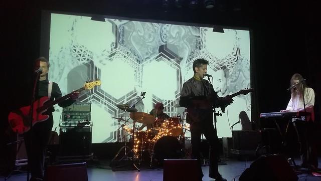 4. La esperada banda The Monochrome Set tocando en el VI Zaragoza Psych Fest.