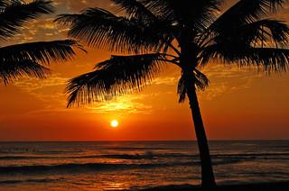 Hd Wallpaper Hawaii Beach Sunset From The Leeward Coast Of Oahu For
