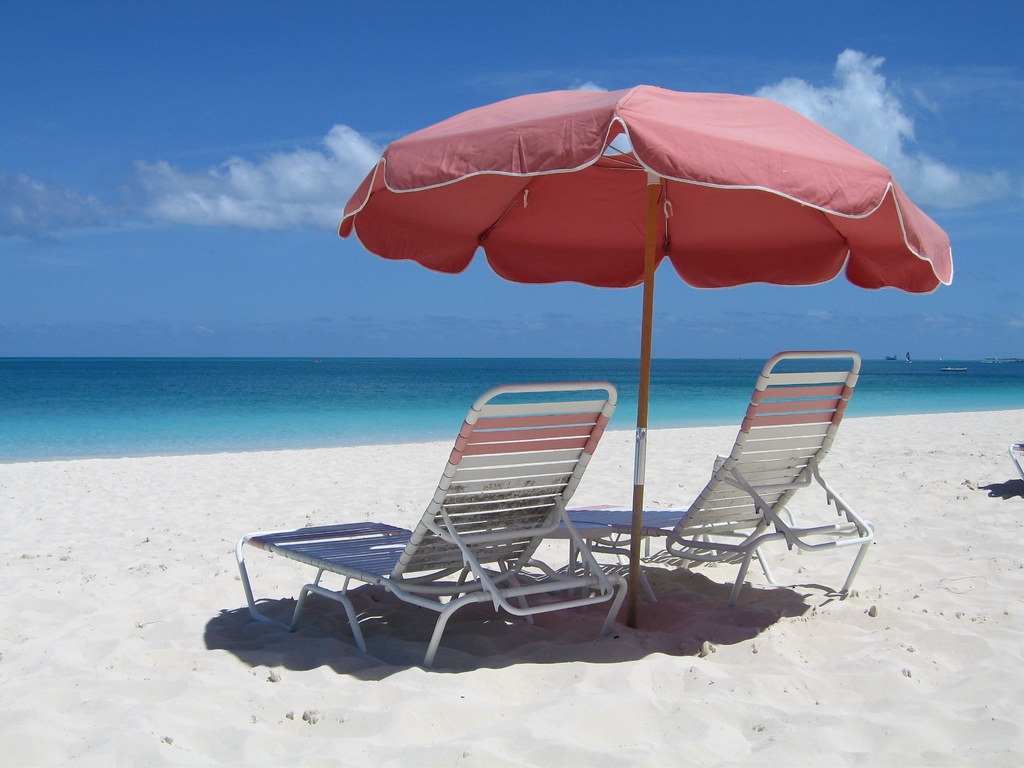 Beach Chairs With Umbrella Red Umbrella And Beach Chairs Room For Two On The Sugary S Flickr