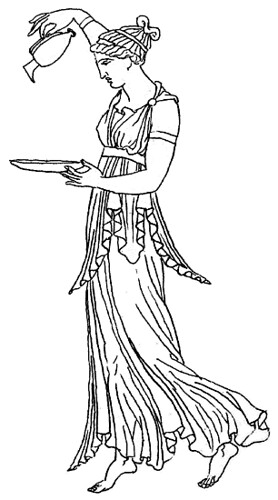 Hebe, drawing from ancient Greek original, in J. Moyr Smit