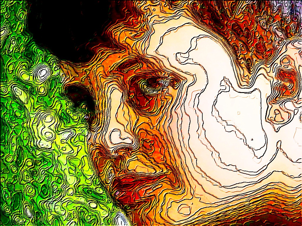 A Contour Map Of His Face