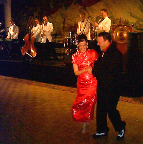 Wife Swing Dancing at the IAS Christmas Ball
