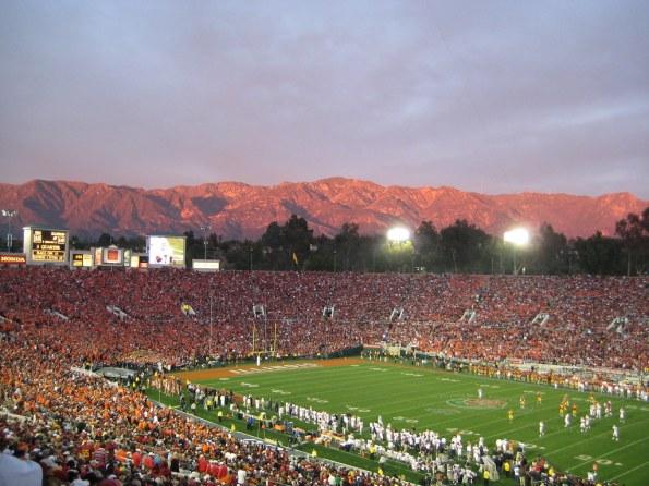 Image result for rose bowl stadium sunset