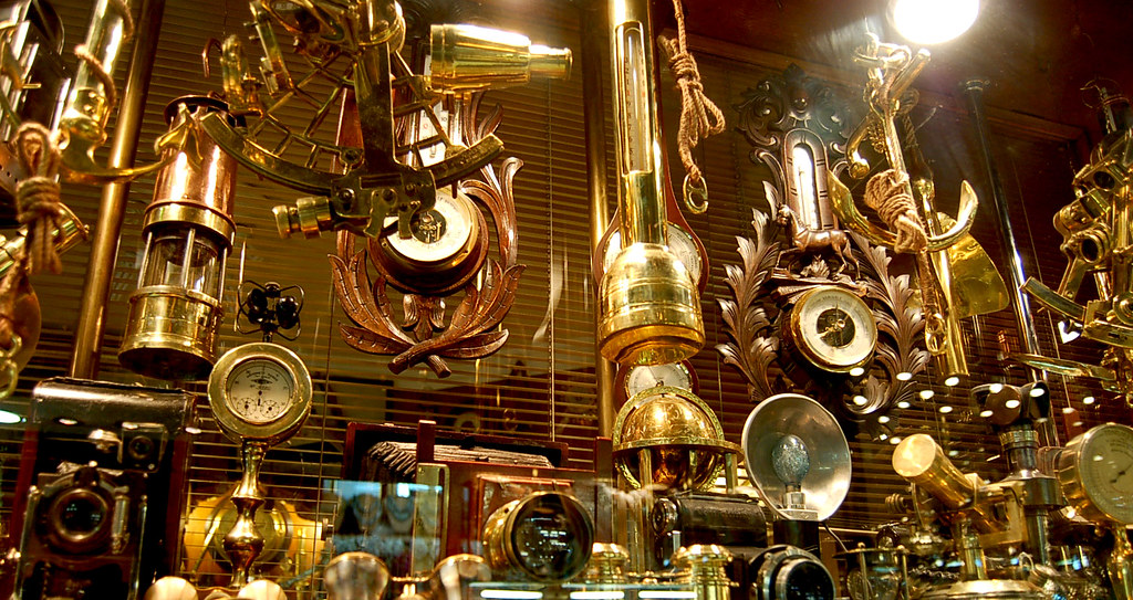 Scientific Wallpaper Hd The Steampunk Nautical Instruments Shop In The Old Grand B