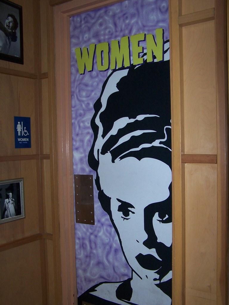 Bride of Frankenstein Bathroom Door  Monsters Cafe  Uni