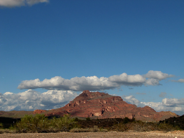 Red Mountain Mesa Arizona The Clouds Were Low And