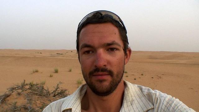 Video diary in Omani desert