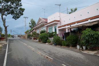 Rosa Häuser in Da Lat