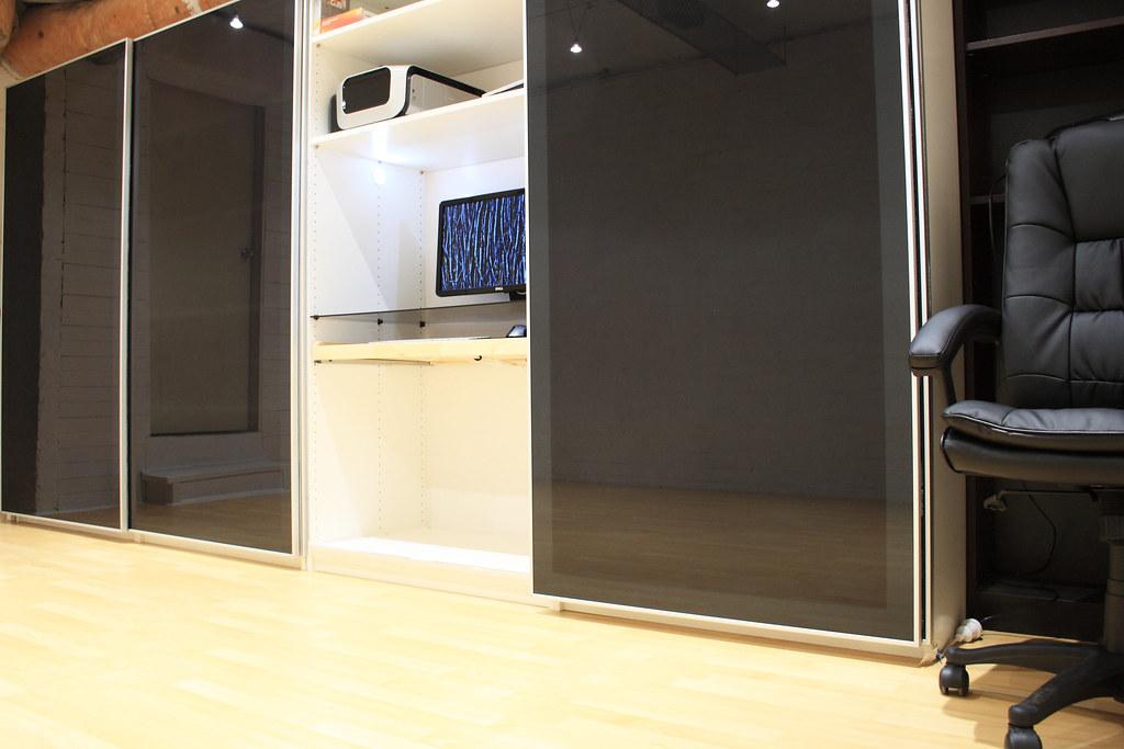Basement Office Doors Open In Preparation For The