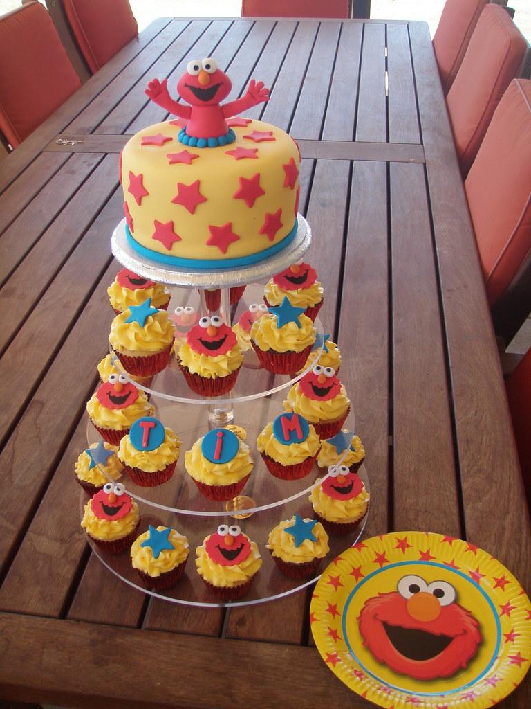 Mossys Masterpiece Tims 40th Birthday Elmo Cake Cupc Flickr
