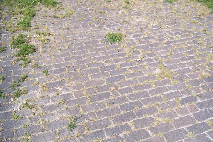 Brick National Road/US 40 alignment