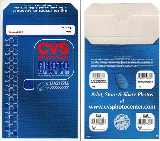cvs photo developing envelope