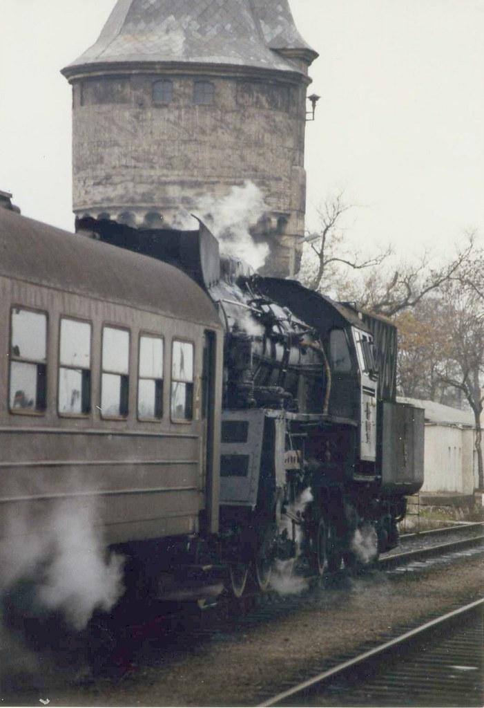 Dworzec Pkp Żagań Poland November 1989 Ol49 90 A