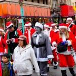 Desaturated Santa at San Francisco Santacon