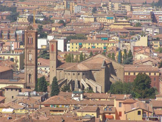 Widok z wieży Asinelli