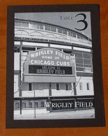 Chicago Wedding Table Numbers #3b - Wrigley Field Custom