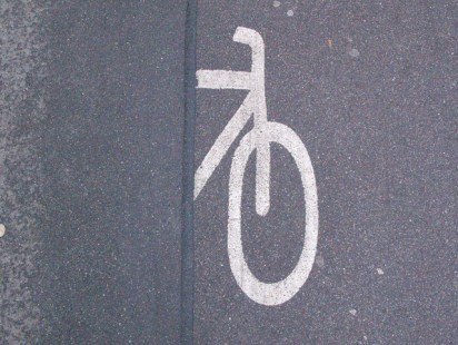 half a cycle path