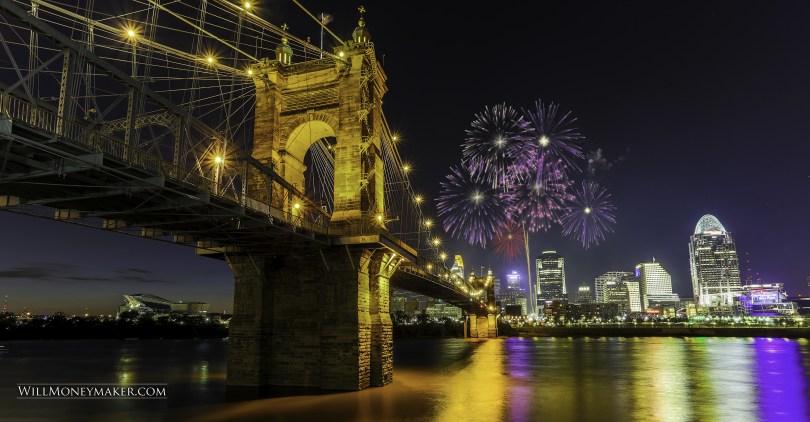 Fireworks over Cincinnati