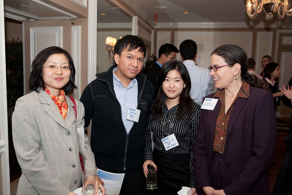 Tufts Financial Network 101909  Alumni and Leslie Warner   Flickr