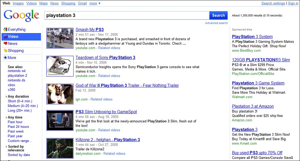 Google Video Search Results   More info at Google Redesign   Flickr