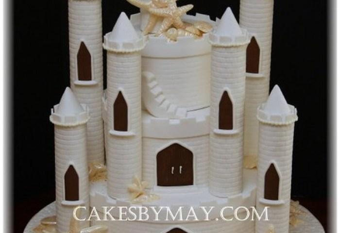 Sand Castle Wedding Cake This Wedding Cake Was Made For A Flickr