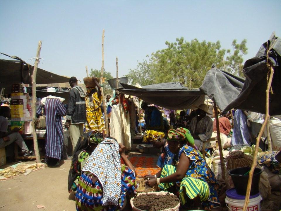 mercado de frutas y verduras Djenne Mali 02