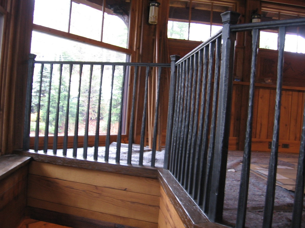 Rustic Hand Forged Stair Railing See More Railings On Www … Flickr   Rustic Wrought Iron Stair Railings   Simple   House   Cabin   Iron Baluster   Contemporary
