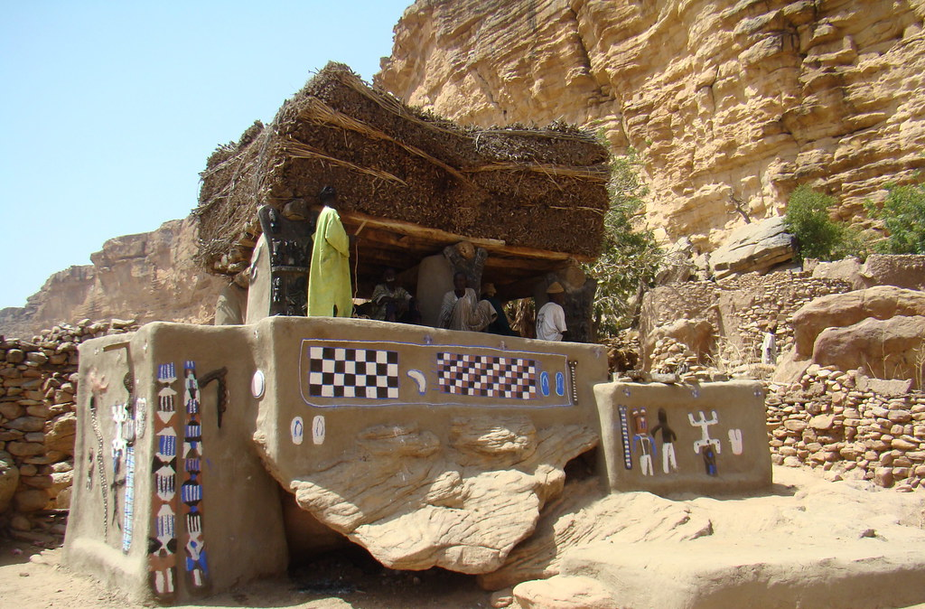 Una toguna pintada Pais Dogones Mali 11