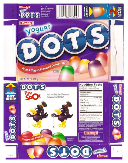 tootsie yogurt dots gumdrops