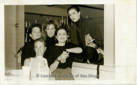 """March 1989 - """"So Many Women"""" Video Shoot: Zanne (center) With Women in the Video."""